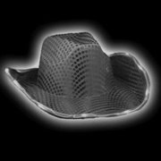 a8c3d4c0738 LED Flashing Cowboy Hat with Black Sequins