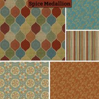 "David Textiles Spice Medallion Collection 44"" Quilting Cotton Fabric By The Yard"""