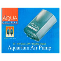 Aqua Culture 20-60-Gallon Double Outlet Aquarium Air Pump