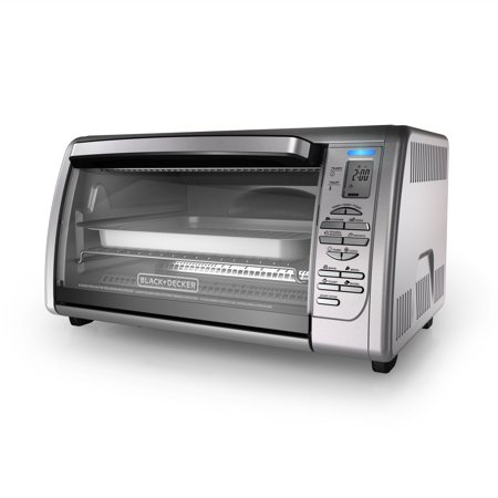 BLACK+DECKER Countertop Convection Toaster Oven, Stainless Steel,