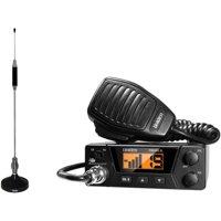 Uniden PRO505XL 40-Channel Bearcat Compact CB Radio and Tram 703-HC Center Load CB Antenna Kit