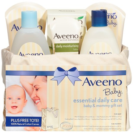 Aveeno Baby Essential Daily Care Baby & Mommy Skincare Gift Set, 8 items](Daily Baby Deals)