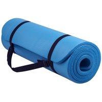NSPIRE FIT 1/2 Inch (12mm) Yoga, Exercise Mat with Carry Strap