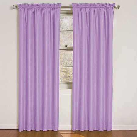 Pink Tab Top Curtains - Eclipse Kids Quinn Energy-Efficient Curtain Panel