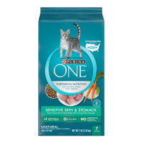 Purina ONE Sensitive Skin & Stomach Adult Dry Cat Food, 7 lb