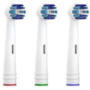 Equate EasyFlex Total Power Replacement Toothbrush Heads, 3 Count
