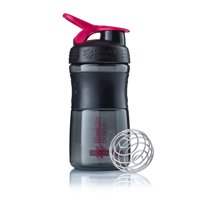 20-oz BlenderBottle SportMixer Shaker Bottle Tritan Grip - Black/Pink