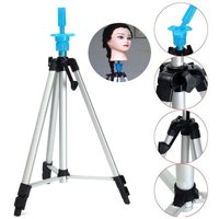 Heavy Duty Metal Adjustable Tripod Stand Holder Wig Stand For Canvas Block Head Hairdressing Training Head Mannequin Head With Carry Bag