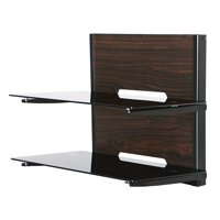 FITUEYES Wooden TV AV Shelf Wall Mounted Component stand for Dvd/xbox One/ps4/tv Component DS205401GB