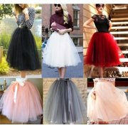 b82f80162 Fashion New 7 Layer Tulle Skirt Womens Vintage Dress 50s Rockabilly Tutu  Petticoat Ball Gown