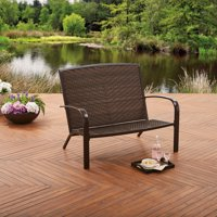 Better Homes and Gardens Wicker Adirondack Outdoor Bench