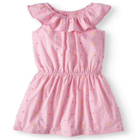 Casual Ruffle Chambray Dress (Little Girls & Big Girls, Plus) - Red Dresses For Girls 7-16