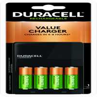 Duracell ION SPEED 1000 Rechargeable Battery Charger for AA and AAA, Includes 4 AA NiMH Batteries