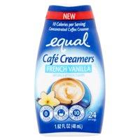 (6 Pack) Equal Coffee Creamer Vanilla Café Simple Squeeze Coffee Creamer No Added Sugar Low Calorie, 1.62 fl oz