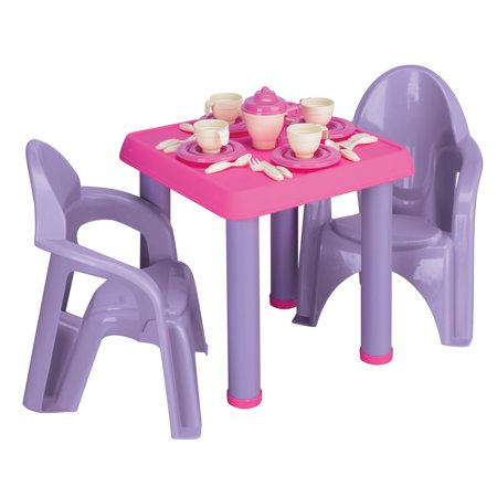 American Plastic Toys - Tea Party Set, -