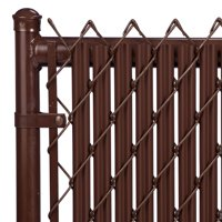 Brown 6ft Ridged Slat for Chain Link Fence