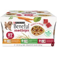 Purina Beneful Medleys Tuscan, Romana and Mediterranean Style Adult Wet Dog Food Variety Pack - (27) 3 oz. Cans