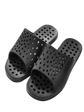 Narsty - Antimicrobial Men's Shower Sandals with Anti-Slip Grip - Faded Black