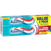 Aquafresh Cavity Protection Fluoride Toothpaste, Cool Mint, 5.6 ounce Twinpack (two 5.6oz tubes)