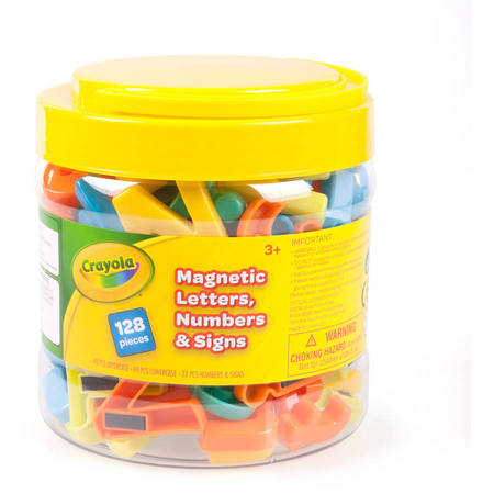 Crayola 128-Piece Letter Magnet Set: Great for Easels