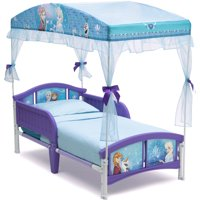 Disney Frozen Plastic Toddler Bed with Canopy by Delta Children