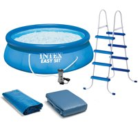 """Intex 15' x 48"""" Easy Set Above Ground Inflatable Family Swimming Pool w/ Pump"""