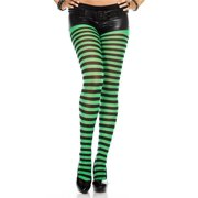 2acece45dc6 Music Legs 7471-BLK-COFFEE Striped Tights