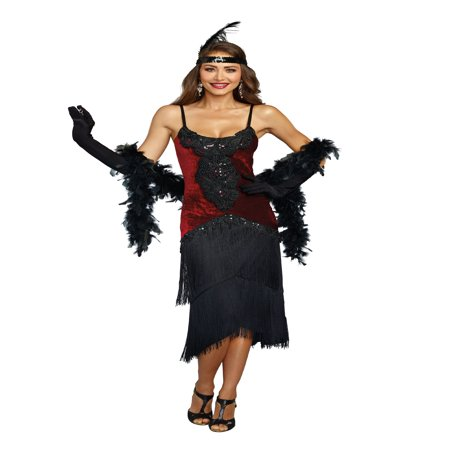 Dreamgirl Women's Luxe Million Dollar Baby Flapper Costume Dress - Flapper Dress Outfit