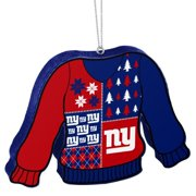New York Giants Official NFL 5.5 inch Foam Ugly Sweater Christmas Ornament  by Forever Collectibles 75fe25895