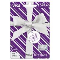 Vanilla Visa Metallic Pattern $25