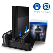 bce3d68af2f Vertical Stand for PS4 Slim PS4 Pro Regular PS4 Controller Charger with 3  Cooling