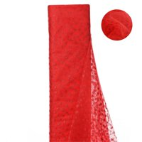 54 inch x 15 yards Glittered Polka Dot Tulle Fabric Bolt - Red