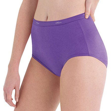 Hanes Women's Cotton Brief Panties - 10 - Bandana Brief