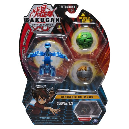 - Bakugan Starter Pack 3-Pack, Serpenteze, Collectible Action Figures, for Ages 6 and Up