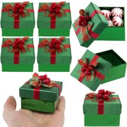 For Keeps (8 Pack) Mini Gift Boxes With Lids, Bows For Small Holiday & Christmas Presents Bulk Lot