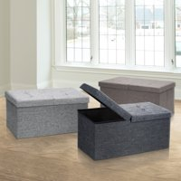 Otto & Ben 30 Inch SMART LIFT TOP Ottoman Bench, Multiple Colors