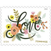 Love Flourishes 10 Sheets Of 20 Forever Usps First Cl Postage Stamps Wedding Valentine 200 Price