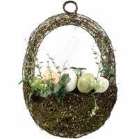 Easter Bunny Egg Basket Wreath Decoration