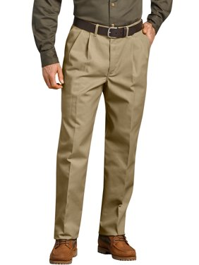 Men's Pleated Comfort-Waist Work Pants