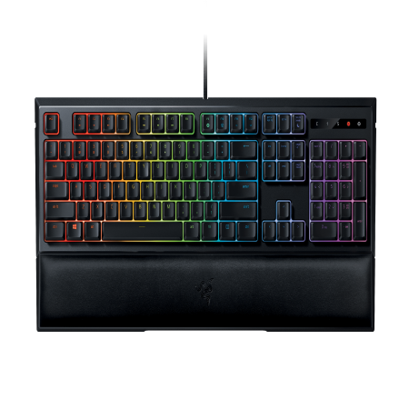 Razer Ornata Chroma: Mecha-Membrane - Individually Backlit Mid-Height Keys - Leatherette Wrist Rest - Gaming (Chroma Key Digital Backgrounds)