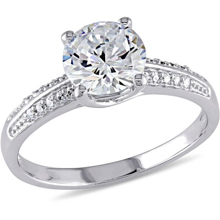 - 3-4/5 Carat T.G.W. CZ Sterling Silver Engagement Ring