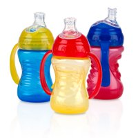 Nuby Grip N Sip Soft Spout Trainer Sippy Cup - 3 pack