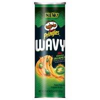 (4 pack) Pringles Wavy Fire Roasted Jalapeno Crisps 4.8 Oz