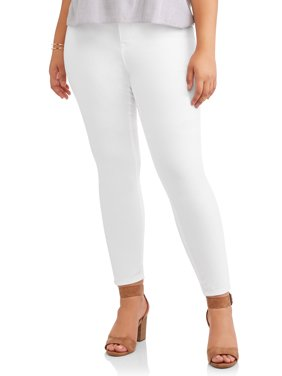 Jordache Women's Plus High Rise Super Skinny Ankle Jean