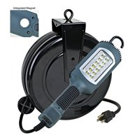 LED Retractable Cord Reel Shop Garage Work Light 1000 Lumens 5030AHS