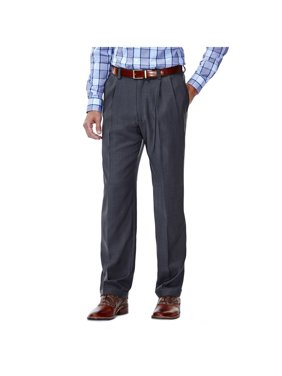 Men's E-CLO Stria Pleat Front Dress Pant Classic Fit HD00219