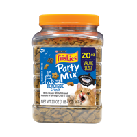 Friskies Party Mix Beachside Crunch Adult Cat Treats, 20 oz. Canister