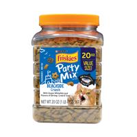 Friskies Party Mix Beachside Crunch Adult Cat Treats, 20 oz. Canister