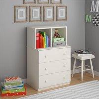 Ameriwood Home Skyler 3 Drawer Dresser with Cubbies, Multiple Colors
