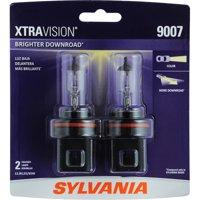 SYLVANIA 9007 XtraVision Halogen Headlight Bulb, Pack of 2